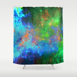 Speed Of Light - Abstract space painting Shower Curtain