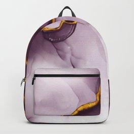 elegant gold violet texture Backpack