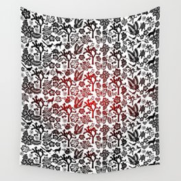 Joshua Tree Heart RED by CREYES Wall Tapestry