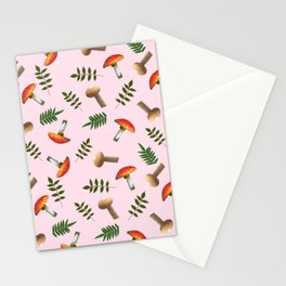 Positive mushrooms pattern Stationery Cards