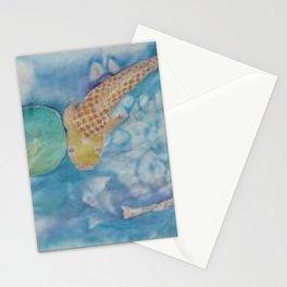 Koi Pond Batik Stationery Cards