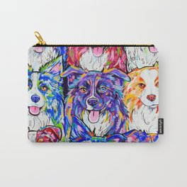 Collies in Colour Carry-All Pouch