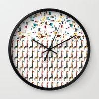 giraffes Wall Clocks featuring GIRAFFES by TT Smith