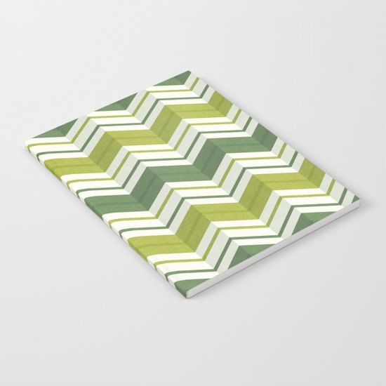 CHEVRON STRIPES - AVOCADO Notebook
