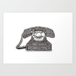 Ring Ring  Art Print