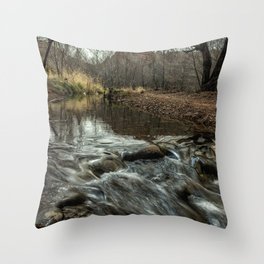 Oak Creek at Red Rock Crossing Throw Pillow