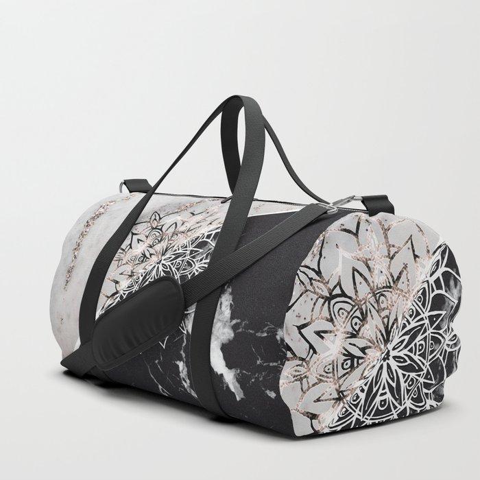 Yin Yang Mandala on Marble #1 #decor #art #society6 Duffle Bag