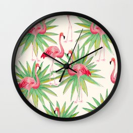 Flamngos 3 Wall Clock