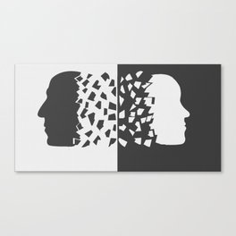 Woman and Man Sharing their mind Canvas Print