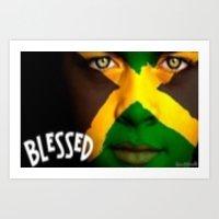 jamaica Art Prints featuring Jamaica Love  by GoodVybz