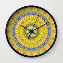 Mandala sun 2 Wall Clock