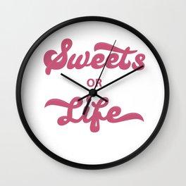 Sweets or life Wall Clock