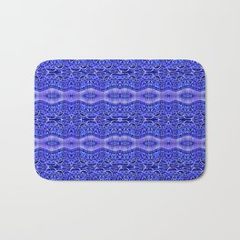 Ancient Thread Pattern Blue Bath Mat