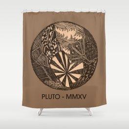 Pluto Sketch Shower Curtain