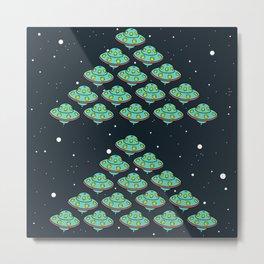 cute invader UFOs Metal Print