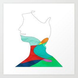 Containers: Face Art Print