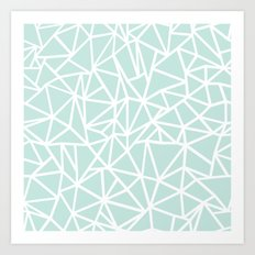 Ab Outline Thick Mint Art Print