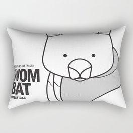 Wombat, Wildlife of Australia Rectangular Pillow