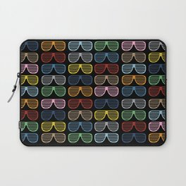 Rainbow Shutter Shades at Night Laptop Sleeve