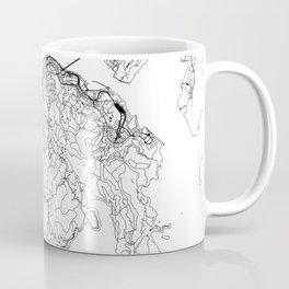 Hong Kong White Map Coffee Mug