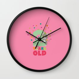 Two Years second Birthday Party Cat T-Shirt D7fw4 Wall Clock