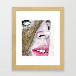 feather's eye Framed Art Print