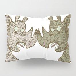 two Blind Rhinos Pillow Sham