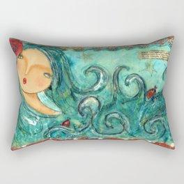 Isabella The Sea Mermaid Rectangular Pillow