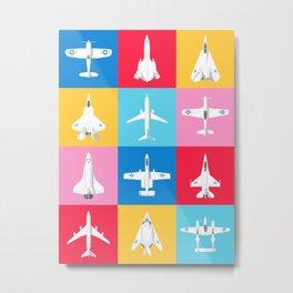Classic Iconic Aircraft Pattern - USA Metal Print