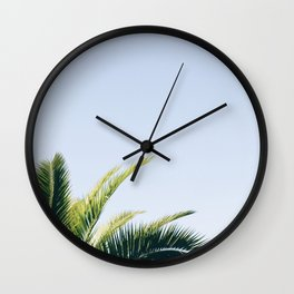 Green Palm Tree Wall Clock