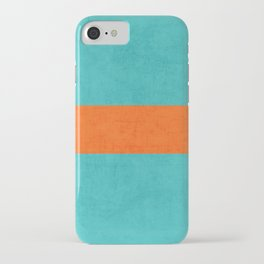 aqua and orange classic iPhone Case