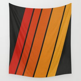 Retro 70s Stripes Wall Tapestry