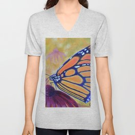 King of butterfly | Le roi des papillons Unisex V-Neck