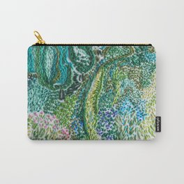 cheerful handmade embroidery in the digital world Carry-All Pouch