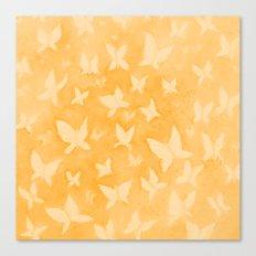 Butterfly Dreams in orange Canvas Print