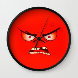 Angry Face Wall Clock