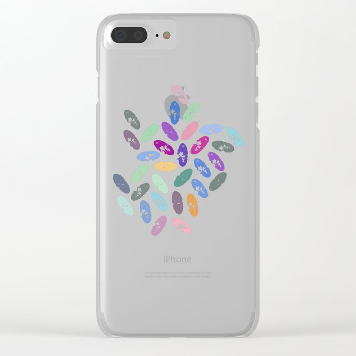 Watercolor Lovely Pattern VII Clear iPhone Case