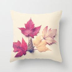 Red Maple Leaf Collection Throw Pillow