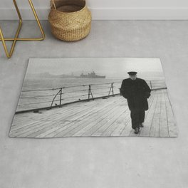 Winston Churchill At Sea Rug