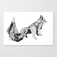 literature Canvas Prints featuring literature fox 3 by vasodelirium