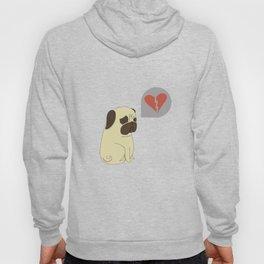 Broken hearted-pug Hoody