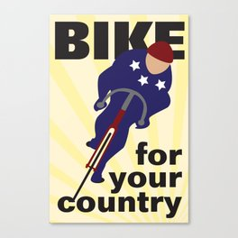 Bike For Your Country Canvas Print