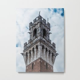 Tower in Sky Metal Print