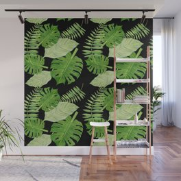 Tropical Leaf Mix II Wall Mural