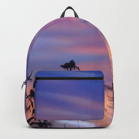 LOOK OUTSIDE - Flowers & Sunset #1 #art #society6 Backpack