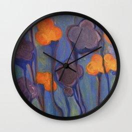 Flowered Atmosphere Wall Clock