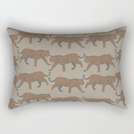 wild tigers pattern 1 Rectangular Pillow