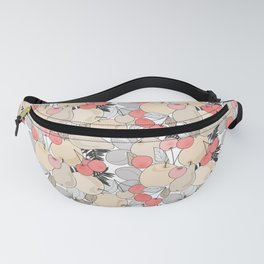Retro pattern . Fruits and berries . Fanny Pack