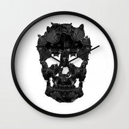 Sketchy Cat skull Wall Clock