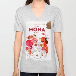 Vintage La Mas Mona de Todas Wine Bottle Label Print Unisex V-Neck
